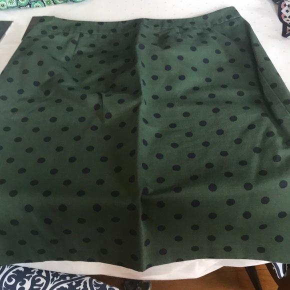 b3970b77b6 Boden Dresses & Skirts - Boden green with navy polka dots pencil skirt